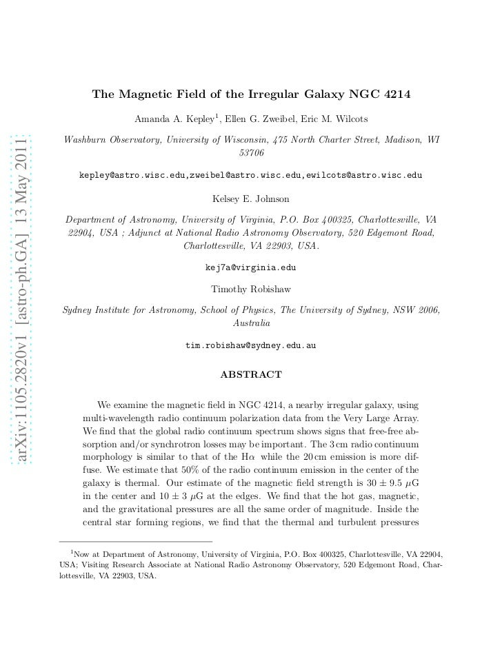 The Magnetic Field of the Irregular Galaxy NGC 4214                                                                  Amand...
