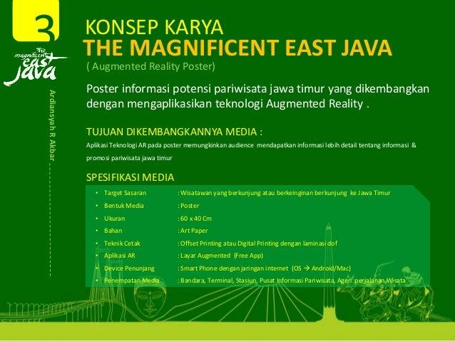KONSEPKARYA THEMAGNIFICENTEASTJAVA (AugmentedRealityPoster) Posterinformasi potensi pariwisata jawa timur yangdi...