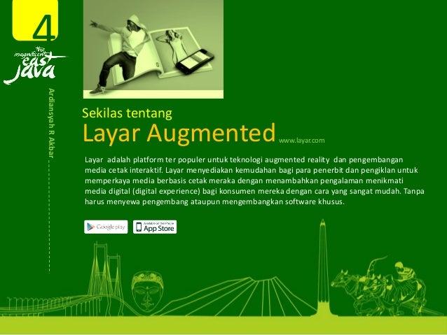 Layar Augmented Layar adalahplatformterpopuleruntukteknologiaugmentedrealitydanpengembangan mediacetakintera...