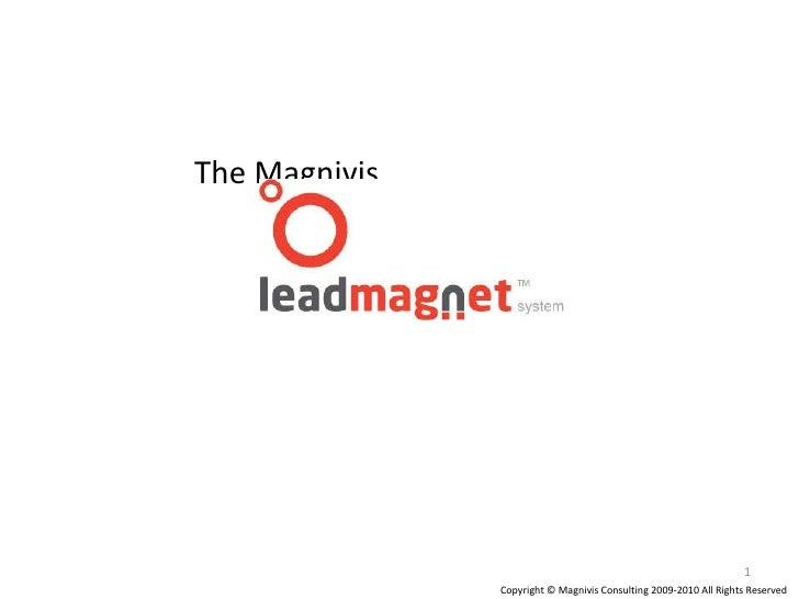 The Magnivis Copyright © Magnivis Consulting 2009-2010 All Rights Reserved