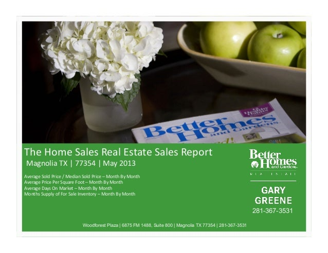 The$Home$Sales$Real$Estate$Sales$Report$$Magnolia$TX$|$77354$|$May$2013$Average$Sold$Price$/$Median$Sold$Price$–$Month$By$...