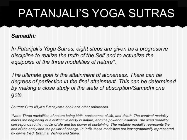 Study Guide for Patanjali's Yoga Sutras - Yoga Life Society