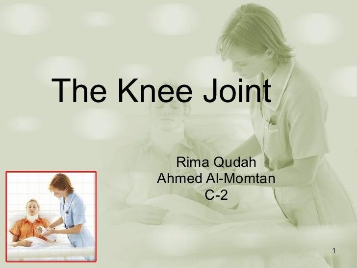 The Knee Joint Rima Qudah Ahmed Al-Momtan C-2