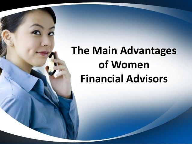 The Main Advantages of Women Financial Advisors