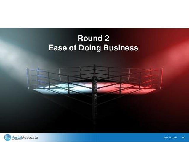 April 12, 2019 14 Round 2 Ease of Doing Business