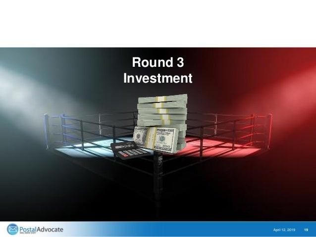 April 12, 2019 19 Round 3 Investment