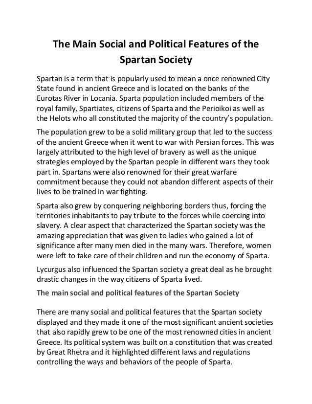 Spartan Social Structure Essay