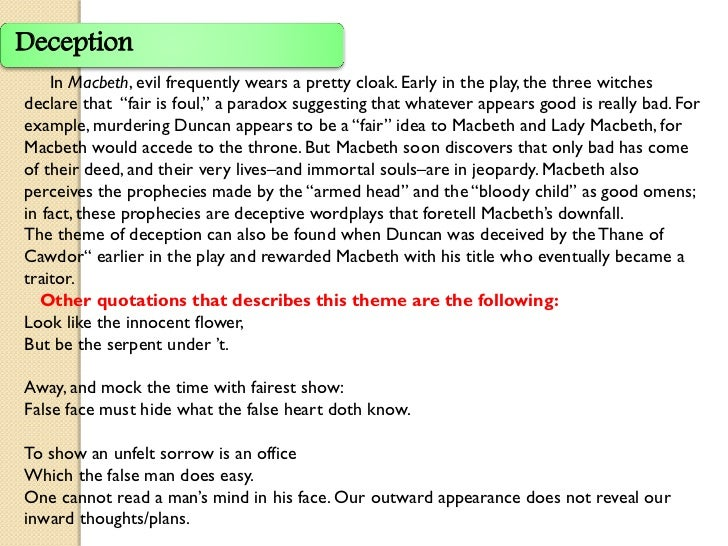 appearances can be deceiving essay