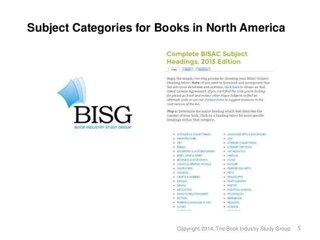 book industry study group report Bisg is the leading book trade association for standardized best practices, research and education for over 35 years, bisg has been working on behalf of its diverse membership of publishers, retailers, manufacturers, distributors, wholesalers, librarians and others involved in both print and digital publishing to forward its mission of facilitating innovation and shared solutions.