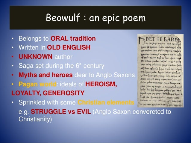 an analysis of the pagan and christian elements in the epic anglo saxon poem beowulf Christian and pagan symbols in beowulf germanic elements in beowulf the poem analysis of christian anglo are the elements of epic fight paganism.