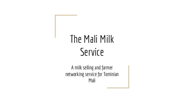 The Mali Milk Service A milk selling and farmer networking service for Tominian Mali