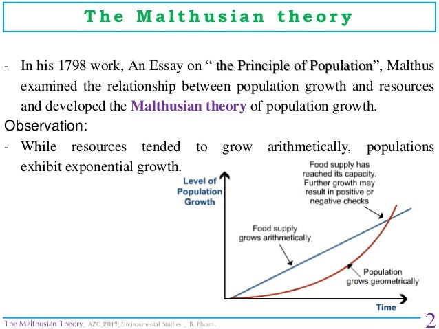 criticism of the malthusian theory of population essay The malthusian population theory and criticisms this theory is known as the malthusian population theory an essay on the principle of population.