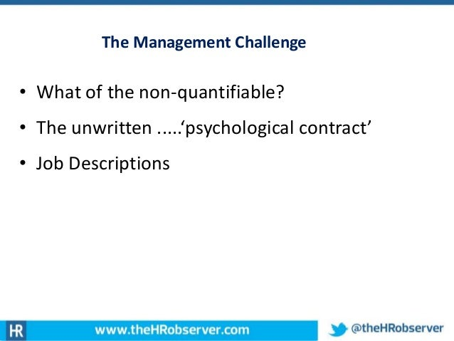 hrm psychological contract This article reveals two 'ideal type' approaches to hrm that address the issue of control of workers in rather different ways the 'high-commitment' model.