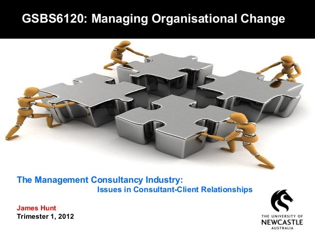 The Management Consultancy Industry:Issues in Consultant-Client RelationshipsJames HuntTrimester 1, 2012GSBS6120: Managing...