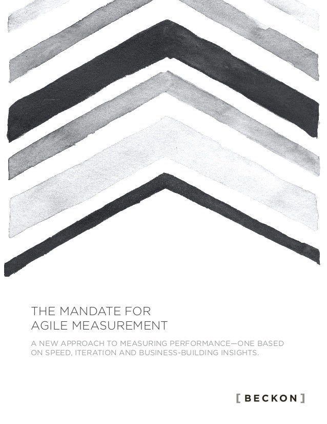 A NEW APPROACH TO MEASURING PERFORMANCE—ONE BASED ON SPEED, ITERATION AND BUSINESS-BUILDING INSIGHTS. THE MANDATE FOR AGIL...