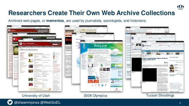 The Many Shapes of Archive-It Slide 2