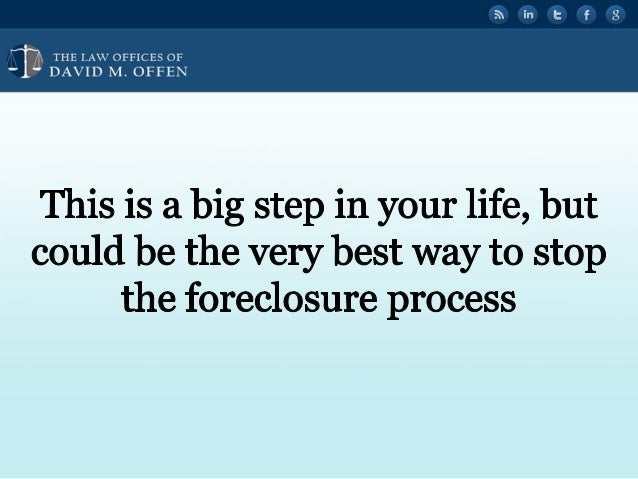 """I I,   'OFFICES OF ' """" DAVID M.  OFFEN  This is a big step in your life,  but could be the very best way to stop the forec..."""