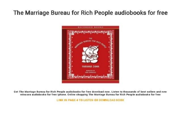 The Marriage Bureau for Rich People audiobooks for free