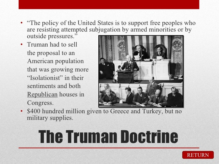 Difference between the Truman Doctrine and the Marshall Plan