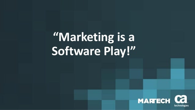 The martech blueprint imperative marketing is a software play malvernweather Gallery