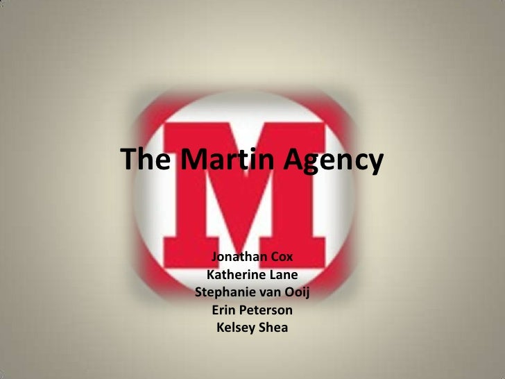 The Martin Agency<br />Jonathan Cox<br />Katherine Lane<br />Stephanie van Ooij<br />Erin Peterson<br />Kelsey Shea<br />