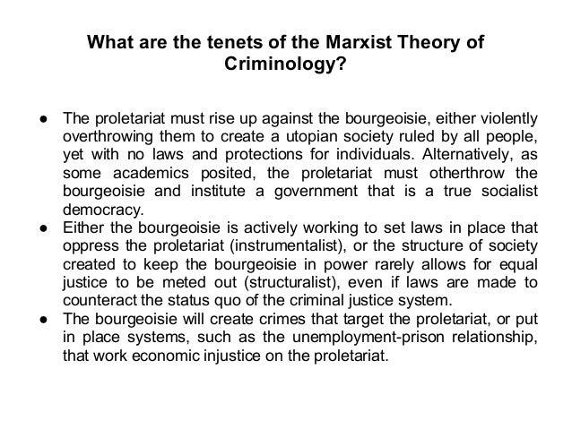 tenets of marxist theory