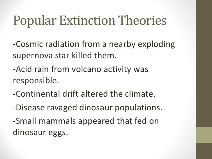 The alvarez hypothesis as the reason for the extinction of dinosaurs from the earth