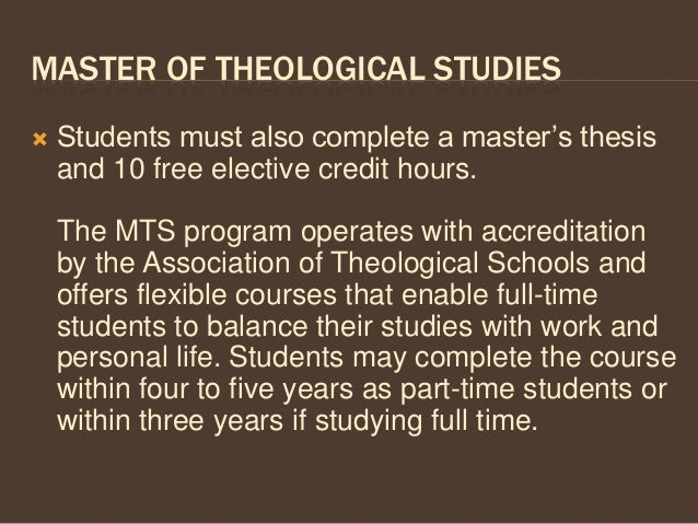 Masters of divinity thesis