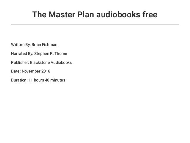 The Master Plan Audiobooks Free