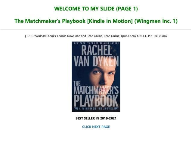 Van playbook the dyken rachel epub matchmakers The Matchmaker's