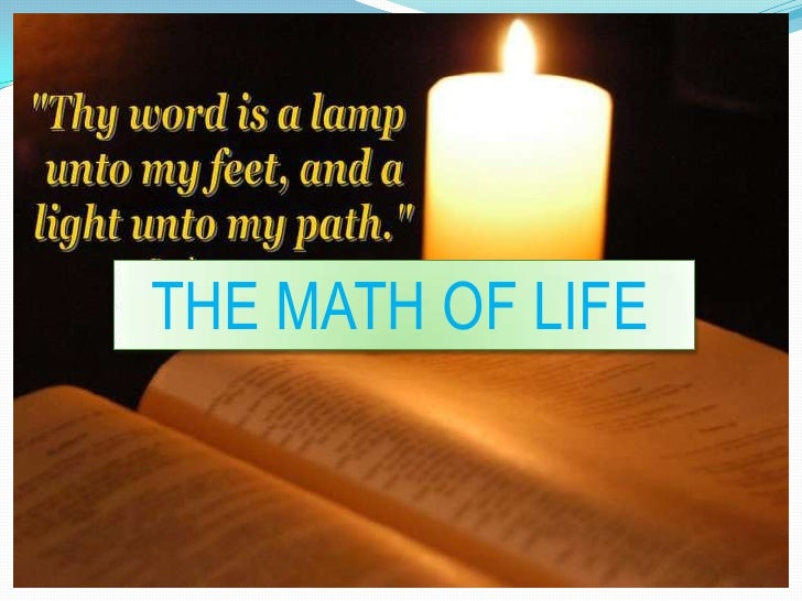 THE MATH OF LIFE<br />
