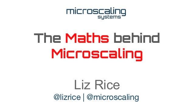 The Maths behind Microscaling Liz Rice @lizrice | @microscaling