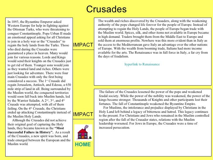 crusades essay outline A good outline can make conducting research and then writing the paper very  efficient your outline page  d black soldier enlistment crusade e joining of.