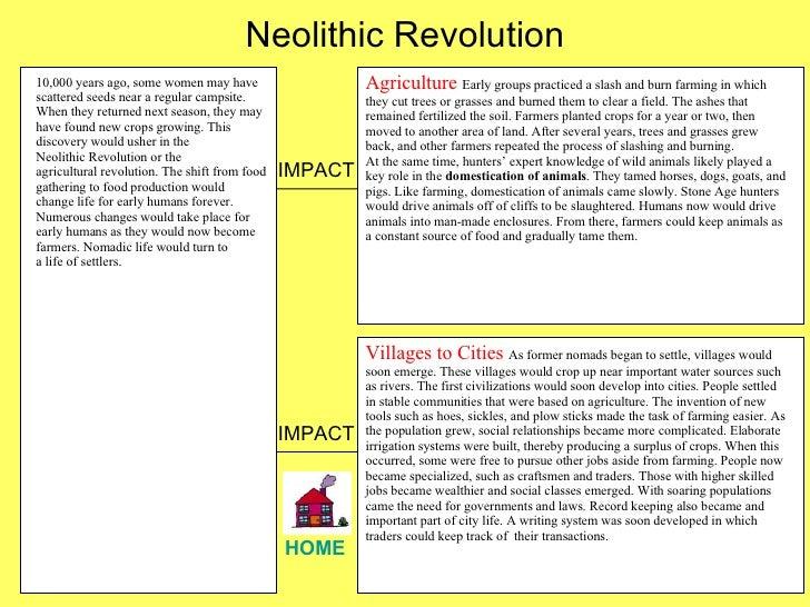 neolithic revolution turning point essay