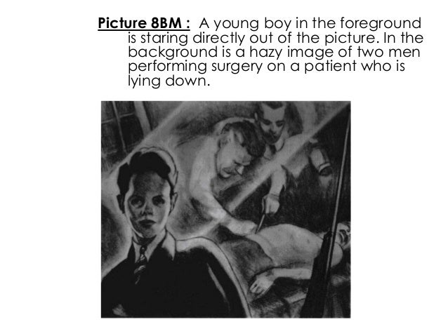 Picture 8BM : A young boy in the foregroundis staring directly out of the picture. In thebackground is a hazy image of two...