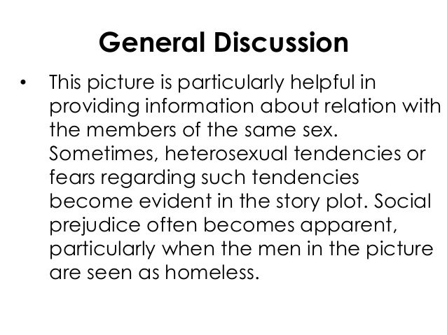 General Discussion• This picture is particularly helpful inproviding information about relation withthe members of the sam...
