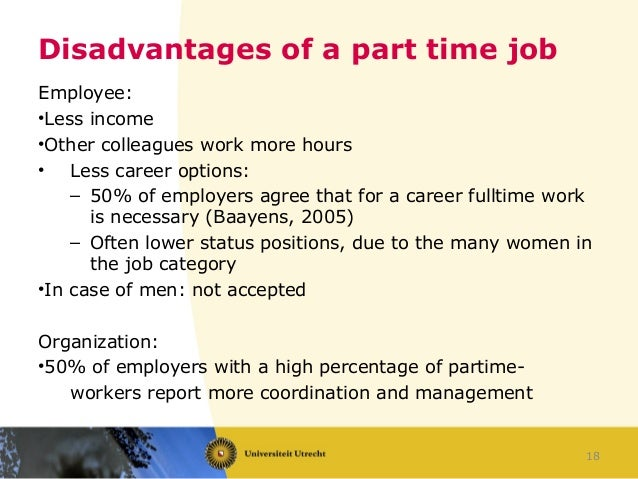Part-time work in the Netherlands: advantages and disadvantages for e…