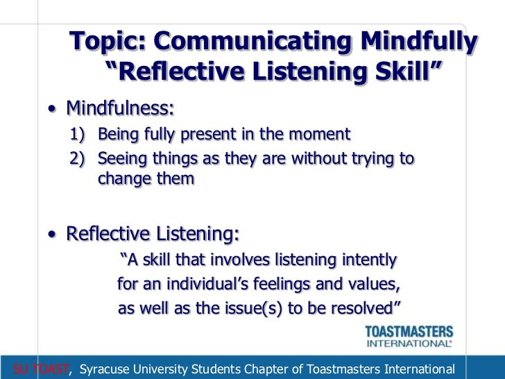 Reflection: Are you a good listener?