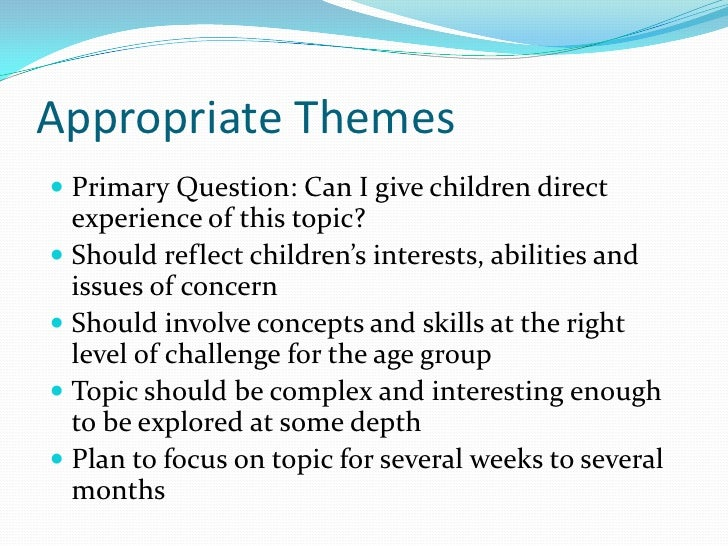 meaning of thematic approach