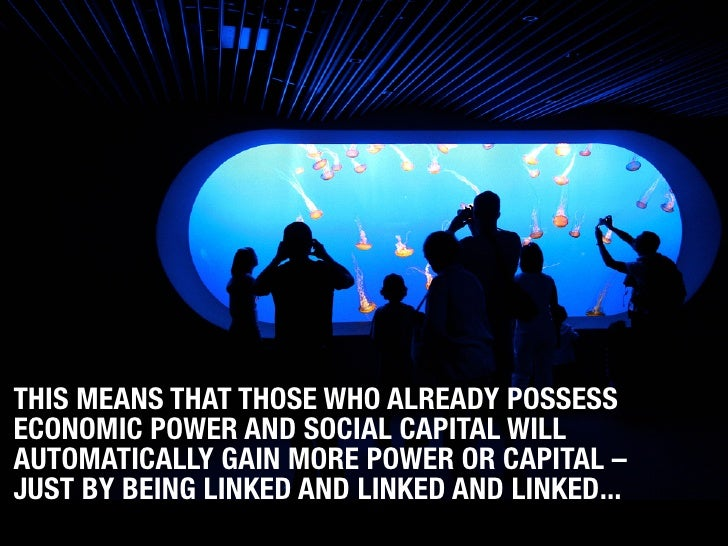 THIS MEANS THAT THOSE WHO ALREADY POSSESS ECONOMIC POWER AND SOCIAL CAPITAL WILL AUTOMATICALLY GAIN MORE POWER OR CAPITAL ...