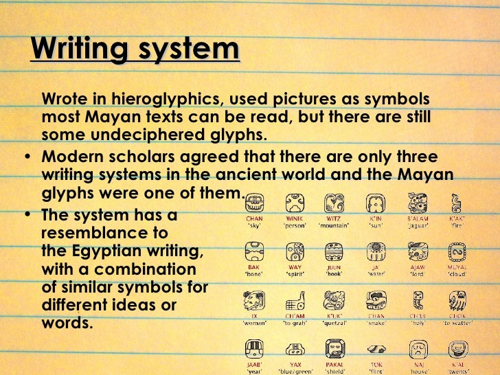 mayan system of writing and language