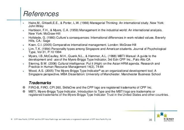 The mbti instrument in asia - The net a porter group asia pacific limited ...