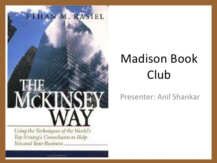 Madison Book Club <br />Presenter: Anil Shankar<br />