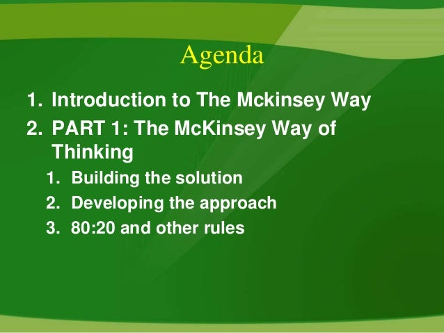 an introduction to the history of mckinsey company The mckinsey 7s model is one of the most widely  since the introduction,  the goal of the model was to show how 7 elements of the company: structure.