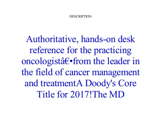 Read [PDF] The MD Anderson Manual of Medical Oncology, Third