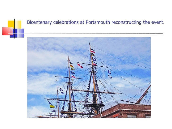 Bicentenary celebrations at Portsmouth reconstructing the event.