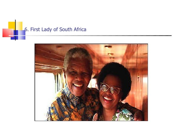 6. First Lady of South Africa