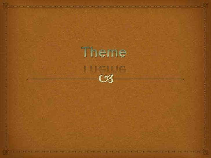 Theme<br />
