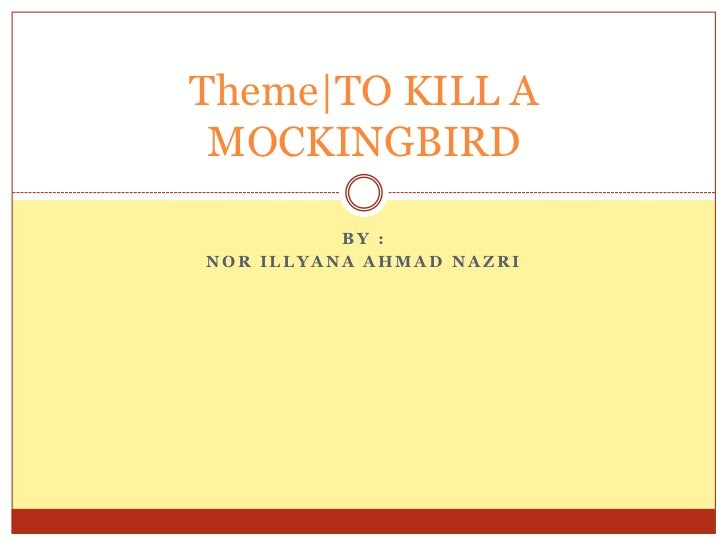 how for you to ruin your mockingbird theme