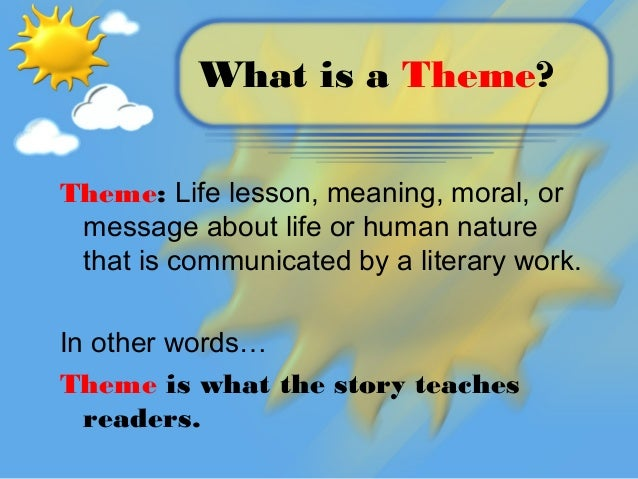 how to create a theme in literature